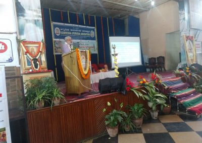 Dr GG Delivering key note address at the National Level Seminar on the topic Principles Based Ayurveda Practice(Tattva-Siddhanta based Ayurveda Chikitsa) 01.12.2019